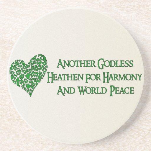 Godless For World Peace Beverage Coaster