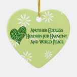 Godless For World Peace Christmas Ornament
