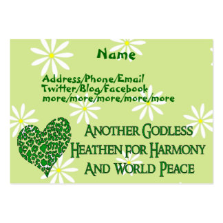 Godless For World Peace Large Business Card