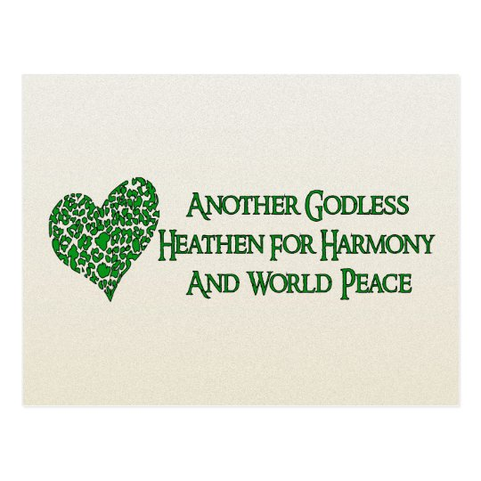 Godless For World Peace Postcard