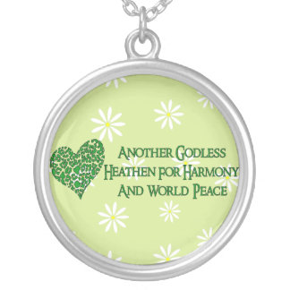 Godless For World Peace Round Pendant Necklace