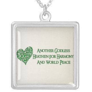 Godless For World Peace Square Pendant Necklace