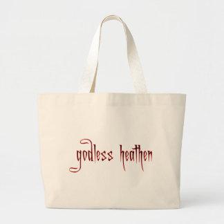 godless heathen canvas bags