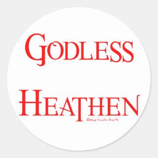 Godless Heathen Classic Round Sticker
