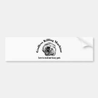 GODLESS KILLING MACHINE BUMPER STICKER