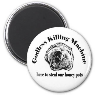 GODLESS KILLING MACHINE 2 INCH ROUND MAGNET
