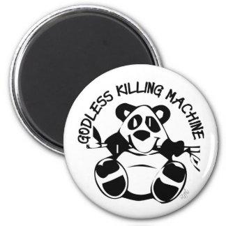 GODLESS KILLING MACHINE PANDA 2 INCH ROUND MAGNET