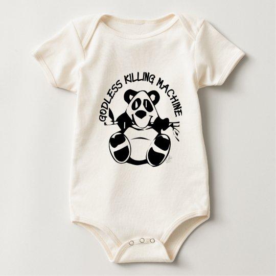 GODLESS KILLING MACHINE PANDA BABY BODYSUIT