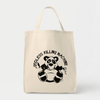 GODLESS KILLING MACHINE PANDA TOTE BAG