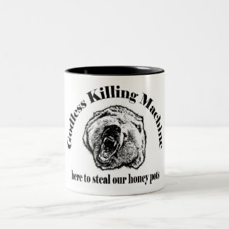 GODLESS KILLING MACHINE Two-Tone COFFEE MUG
