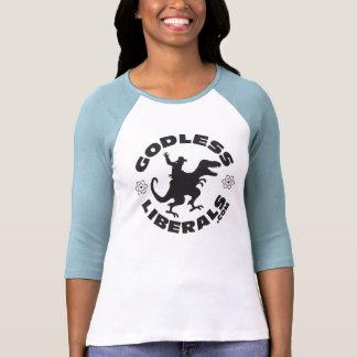 Godless Liberals Official Logo lady's Raglan Tshirts