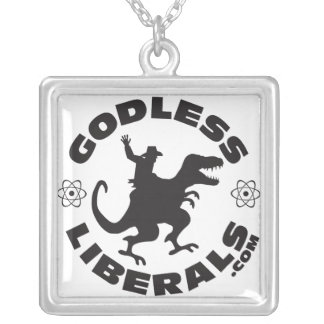 Godless Liberals Official Logo Square Necklace