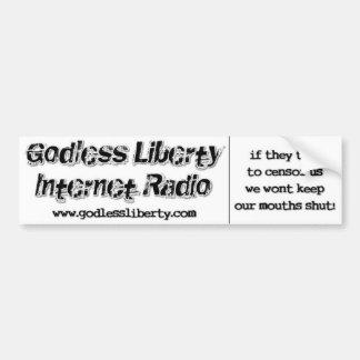 Godless Liberty Censor Us Bumper Sticker