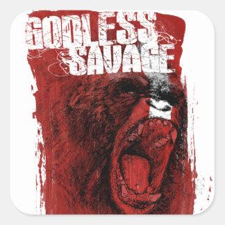 Godless Savage Square Sticker
