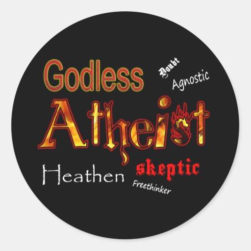 Godless Words Round Sticker