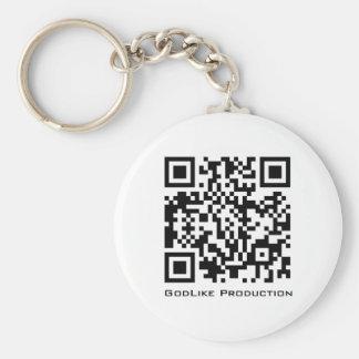 Godlike Production QR Logo Key-Chain Basic Round Button Keychain