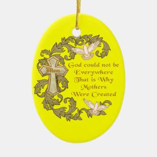 Godly Christian Mom Ceramic Ornament