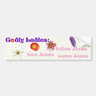 Godly Ladies Bumper Sticker