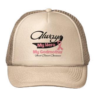 Godmother - Always My Hero - Breast Cancer Trucker Hat