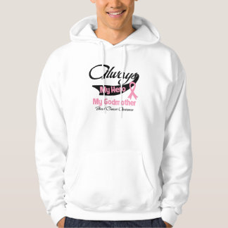 Godmother - Always My Hero - Breast Cancer Hooded Pullover