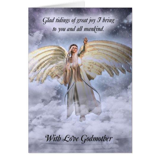 Godmother Angel Christmas Card Religious