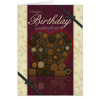 Godmother Birthday Card - Chocolates