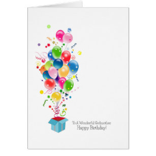 Happy birthday godmother cards greeting photo cards zazzle godmother birthday cards colorful balloons card bookmarktalkfo Gallery