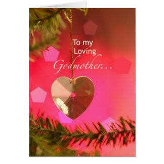 Godmother Christmas Heart on Tree Simple Joys Card