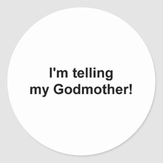 Godmother Classic Round Sticker