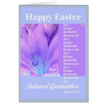 GODMOTHER - Happy Easter with Lily Greeting Card