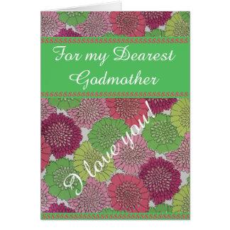 Godmother Mother's Day Card - Vintage Floral