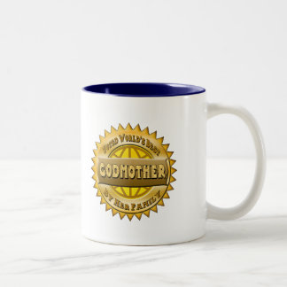 Godmother Mothers Day Gifts Two-Tone Coffee Mug