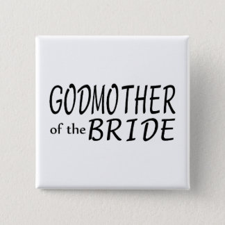 Godmother Of The Bride Pinback Button