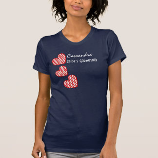 GODMOTHER of the BRIDE Plaid Hearts V35 T-shirt
