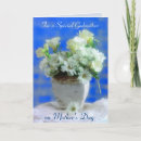 Godmother on Mother's Day Card - Lovely arrangement of white flowers for a Special Godmother on Mother's Day. Personalize the inside text inside areas and outside too if you wish.
