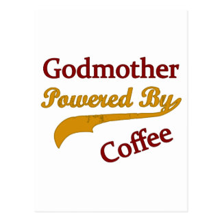 Godmother Powered By Coffee Postcard