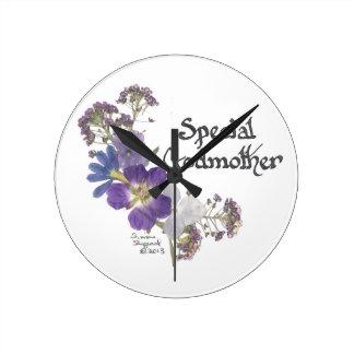 Godmother tribute round clock