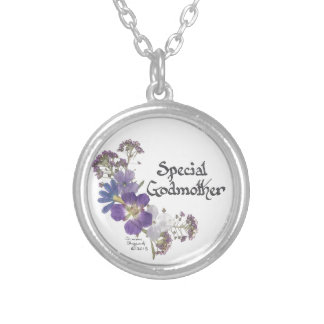 Godmother tribute silver plated necklace