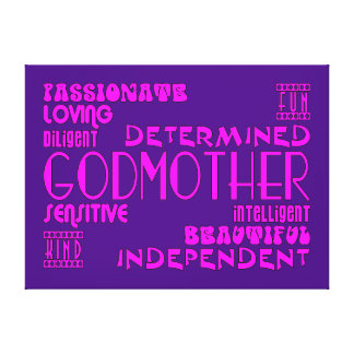 Godmothers Baptims Christening Parties : Qualities Gallery Wrapped Canvas