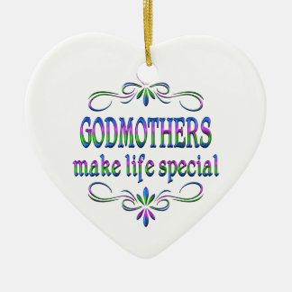 Godmothers Make Life Special Ceramic Ornament