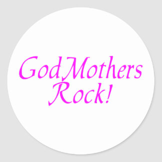 GodMothers Rock Pink Classic Round Sticker