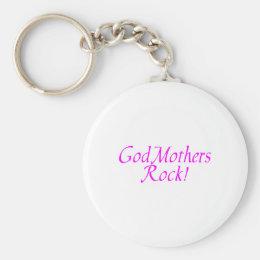 GodMothers Rock Pink Keychain
