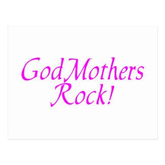 GodMothers Rock Pink Postcard