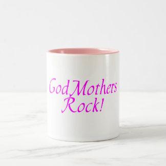 GodMothers Rock! Two-Tone Coffee Mug