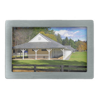 Godolphin & Darley Stables at Saratoga Rectangular Belt Buckles