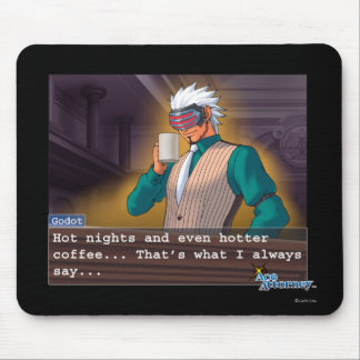 "Godot - ""Hot Nights"" Mouse Pad"