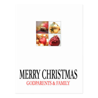 godparents and family  Merry Christmas card Post Cards