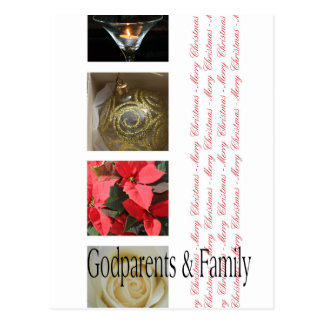 godparents and family  Merry Christmas card Post Card