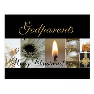 godparents  Merry Christmas card Postcard