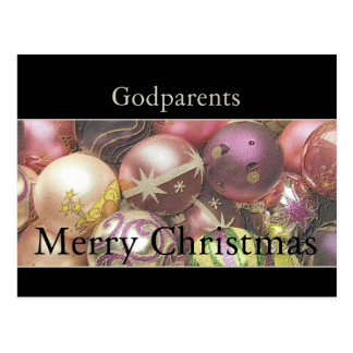 godparents  Merry Christmas card Postcards